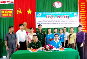 Phụ nữ Hà Tiên cùng Bộ đội Biên phòng chung sức bảo vệ an ninh biên giới