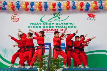 Quận 3 hưởng ứng Ngày chạy Olympic vì sức khỏe toàn dân 2019