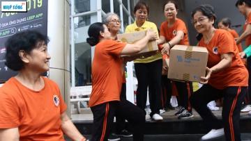 CLB Thái cực Đông gia tặng quà Trung tâm Bảo trợ người khuyêt tật Thạnh Lộc