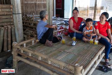 Mộc mạc những sản phẩm từ tre Hàm Giang