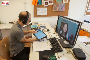 Học sinh trường IGS tiếp tục học tập bằng phương pháp giảng dạy trực tuyến