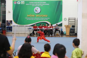 Wushu học đường tranh tài tại Hội khỏe Phù Đổng TP.HCM năm học 2019-2020