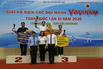 Giải vô địch các đội mạnh Vovinam toàn quốc lần XI: TPHCM giành ngôi đầu toàn đoàn