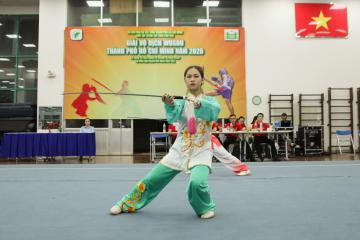 Quận 11 giành Nhất toàn đoàn giải Vô địch Wushu TP.HCM 2020