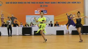 Khai mạc Giải Vô địch Khiêu vũ thể thao và nghệ thuật quận 3 mở rộng năm 2021